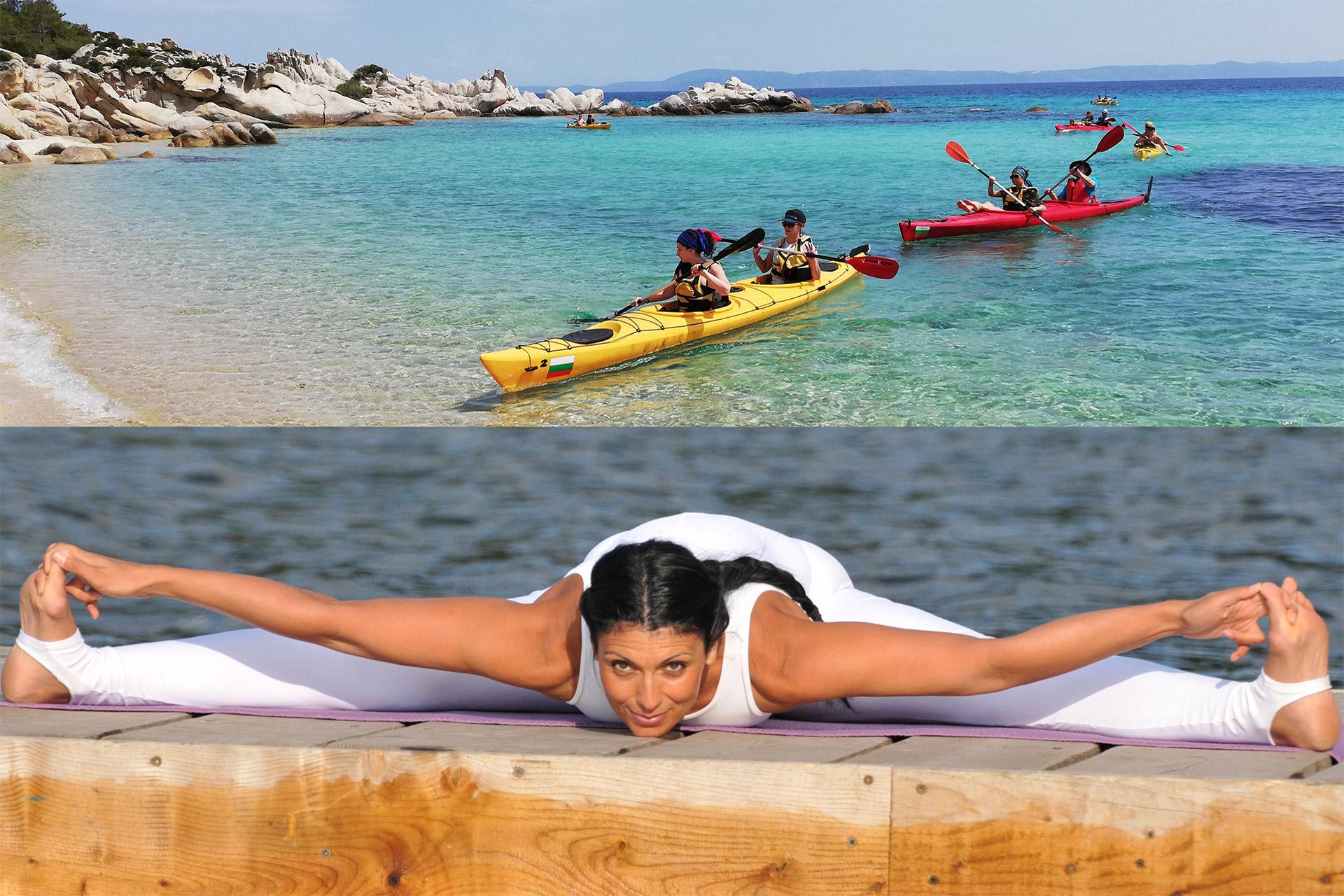 Каяк и йога на Арменистис